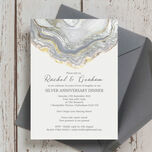 Agate Crystal 25th / Silver Wedding Anniversary Invitation additional 1