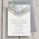Agate Crystal 25th / Silver Wedding Anniversary Invitation additional 2
