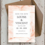 Blush Marble Wedding Save the Date additional 1