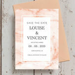 Blush Marble Wedding Save the Date additional 3