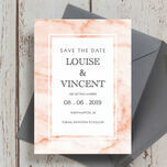 Blush Marble Wedding Save the Date additional 2