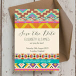 Aztec Ikat Save the Date additional 1
