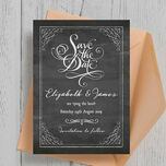 Chalkboard Save the Date additional 4