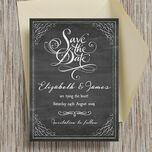 Chalkboard Save the Date additional 2