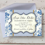 French Toile Save the Date additional 3