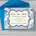 French Toile Save the Date additional 2
