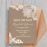 Rustic Lace Save the Date additional 2