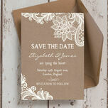 Rustic Lace Save the Date additional 3
