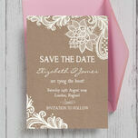 Rustic Lace Save the Date additional 1