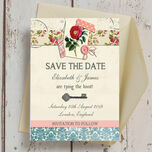 Vintage Scrapbook Save the Date additional 2