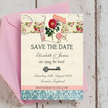 Vintage Scrapbook Save the Date additional 1