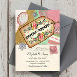 Vintage Trinkets Save the Date additional 2