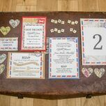 Vintage Airmail Table Number additional 4