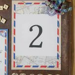 Vintage Airmail Table Number additional 3