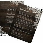 Rustic Wood & Lace Wedding Invitation additional 4