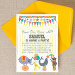 Circus Fun Party Invitation additional 2