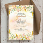 Gold Floral Wedding Invitation additional 2