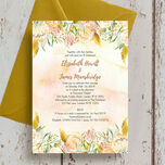 Gold Floral Wedding Invitation additional 3