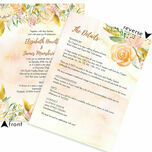 Gold Floral Wedding Invitation additional 4