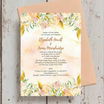 Gold Floral Wedding Invitation additional 1