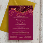 Burgundy & Rose Gold Indian / Asian Wedding Invitation additional 1