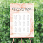 Blush Marble Wedding Seating Plan additional 1