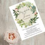 Flora Wreath Wedding Invitation additional 4