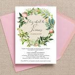 Flora Wreath Wedding Invitation additional 3
