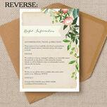 Flora Wreath Wedding Invitation additional 2