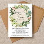 Flora Wreath Wedding Invitation additional 1
