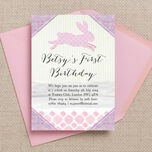 Pastel Bunny Party Invitation additional 1