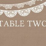Rustic Lace Bunting Table Name additional 1