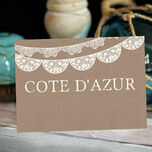 Rustic Lace Bunting Table Name additional 2