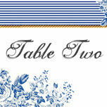 French Toile Table Name additional 1