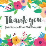 Floral Fiesta Thank You Card additional 2