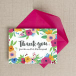 Floral Fiesta Thank You Card additional 1