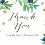 Olive Wreath Thank You Card additional 2