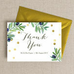 Olive Wreath Thank You Card additional 1
