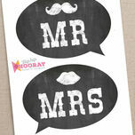 Chalkboard Photo Booth Speech Bubble Props additional 4