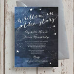 Midnight Stars Wedding Invitation additional 1