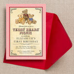 Teddy Bears' Picnic Kids Party Invitation additional 3