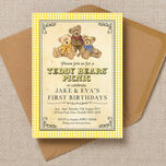 Teddy Bears' Picnic Kids Party Invitation additional 1