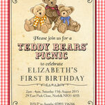 Teddy Bears' Picnic Kids Party Invitation additional 5