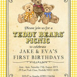 Teddy Bears' Picnic Kids Party Invitation additional 6