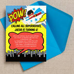 Superhero Children's Party Invitation additional 1