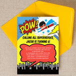 Superhero Children's Party Invitation additional 2