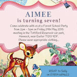 Vintage Deer Children's Party Invitation additional 3