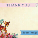 Vintage Deer Thank You Cards additional 5