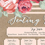 Rustic Floral Wedding Seating Plan additional 8