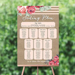 Rustic Floral Wedding Seating Plan additional 1